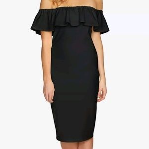 1.STATE Off-The-Shoulder Flounce Dress size 2
